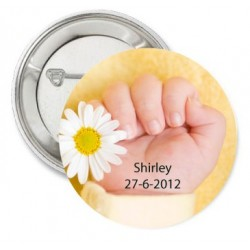Button Baby White and Yellow