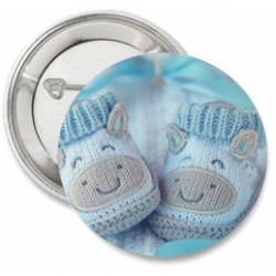 Button Baby slofjes blauw