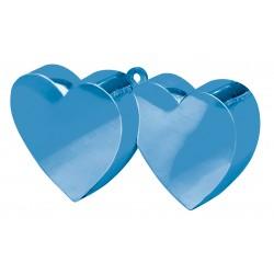Ballon gewicht Double Heart blauw