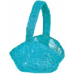 Aantrekkelijk geprijsd sisal (strooi)mandje blauw