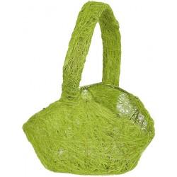 Aantrekkelijk geprijsd sisal (strooi)mandje naturel groen