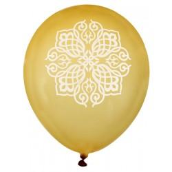 Zak met 8 ballonnen Oriental goud