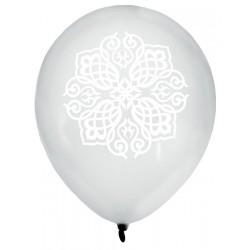 Zak met 8 ballonnen Oriental zilver
