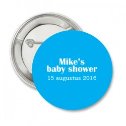 Button Babyshower blue