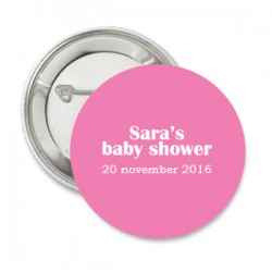 Button Babyshower pink