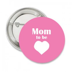 Button Babyshower Mom to Be pink