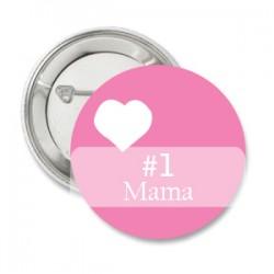 Button Pink met tekstbalk en wit hartje
