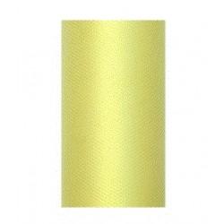 Tule rol licht geel 8 cm breed x 20 meter lang