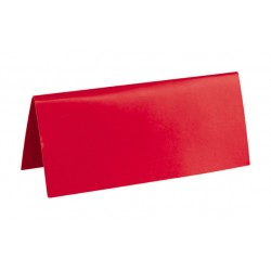 Pak met 10 plaatsnaamkaarten 7 x 3 cm rood