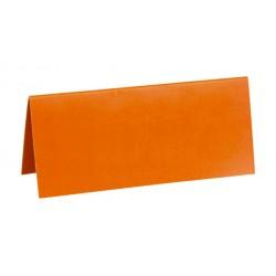 Pak met 10 plaatsnaamkaarten 7 x 3 cm oranje