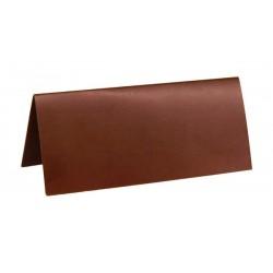 Pak met 10 plaatsnaamkaarten 7 x 3 cm bruin
