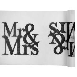 Tafelloper Mr and Mrs Black and White