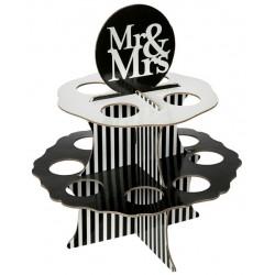 Kartonnen standaard Mr and Mrs Black and White