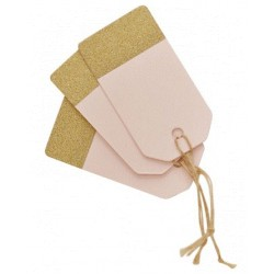 Pak met 10 luggage tags Perfect Love pink and gold