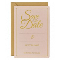 Pak met 10 Save the Date kaarten Perfect Love