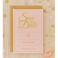 Pak met 10 Save the Date kaarten Perfect Love