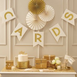 Letterslinger Cards Metallic Perfection Ivory and Gold
