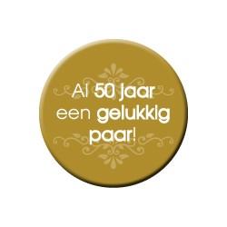 Button Al 50 jaar een gelukkig paar