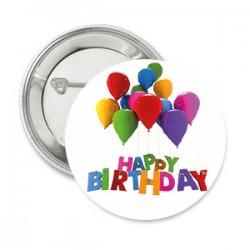 Button Happy Birthday met eigen tekst