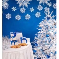 Papieren sneeuwvlok slinger