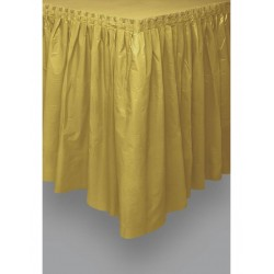 Plastic tafelrok goud