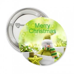 Button Merry Christmas green
