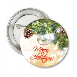 Button Merry Christmas traditional