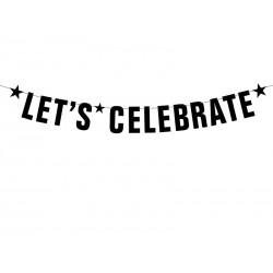 Letterbanner Let's celebrate