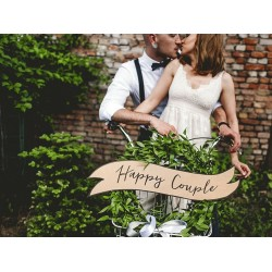 Decoratieve vintage look set Happy Couple en Wedding