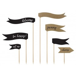 Cupcake toppers Vintage Flags
