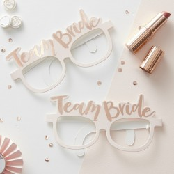 Set met 8 brillen Team Bride Rose Gold
