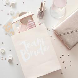 Team Bride Rose Gold giftbags