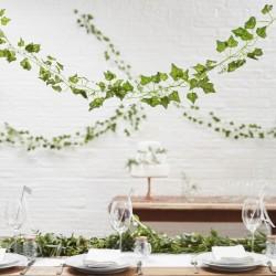 Pak met 5 slingers met groene blaadjes Beautiful Botanics