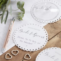 Pak met 20 Advice for the Bride and Groom onderzetters Beautiful Botanics
