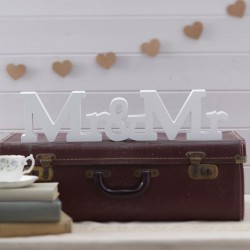 Houten Mr & Mr bord Vintage Affair