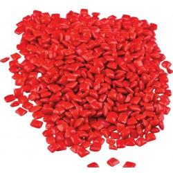 Pak met heel veel kleine kauwgommetjes rood