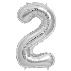 Cijfer folie ballon XL van 0 t/m 9