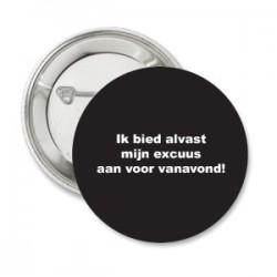 Button Black met eigen tekst