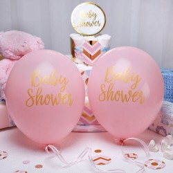 Baby ballon gold pattern pink Baby Shower