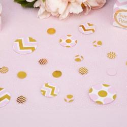 Pak tafel confetti gold pattern roze