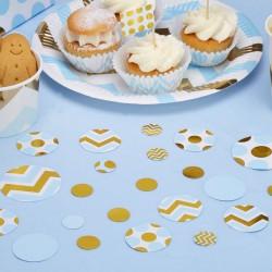 Pak tafel confetti gold pattern blauw
