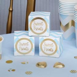 Pak met 10 kartonnen doosjes gold pattern blauw