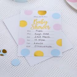 Pak met 10 uitnodigingen met envelop gold pattern