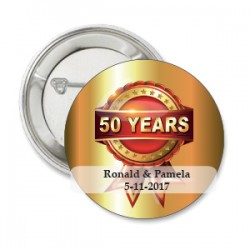 Button 50 Years Red and Gold