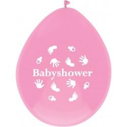 Pak met 6 ballonnen Babyshower Pink