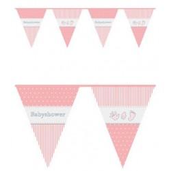 Vlaggenlijn Babyshower Pink