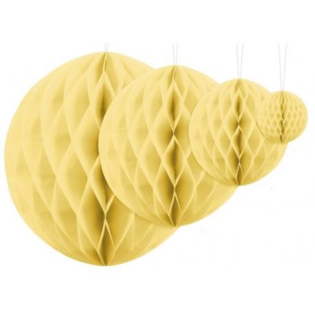 Aantrekkelijk geprijsde honeycomb bollen in 4 maten ivoor