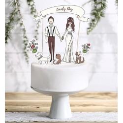Aantrekkelijk geprijsde bruidstaart topping Lovely Day 7-delig