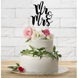 Aantrekkelijk geprijsde bruidstaart topping Mr & Mrs