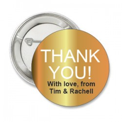 Button Thank You goud of zilver met deze of eigen tekst